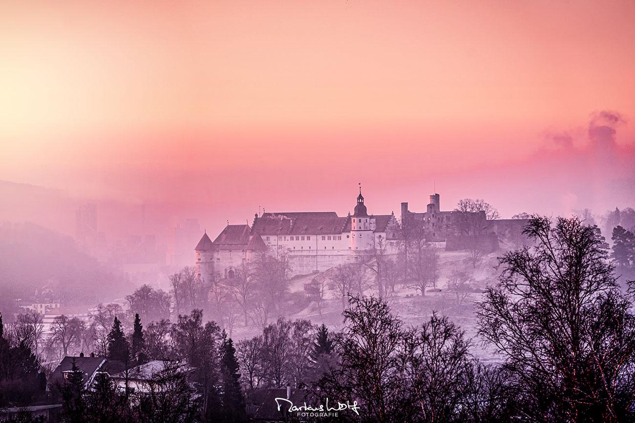 Markus Wolf . FOTOGRAFIE - Schloss Hellenstein Heidenheim (Sonnenaufgang)